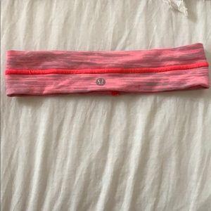 pink lululemon headband